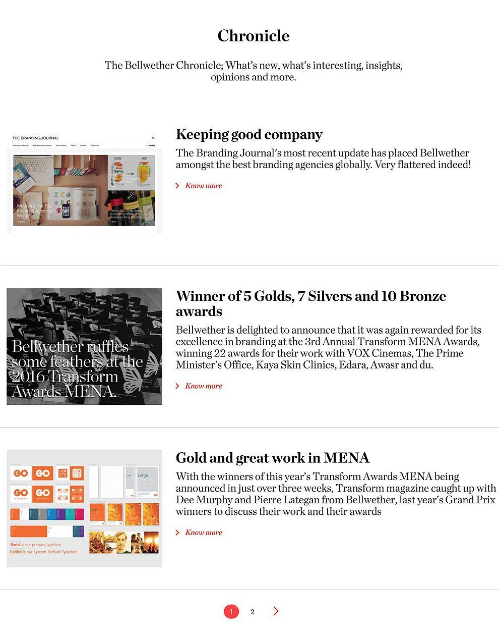 Bellwether Brands Website News