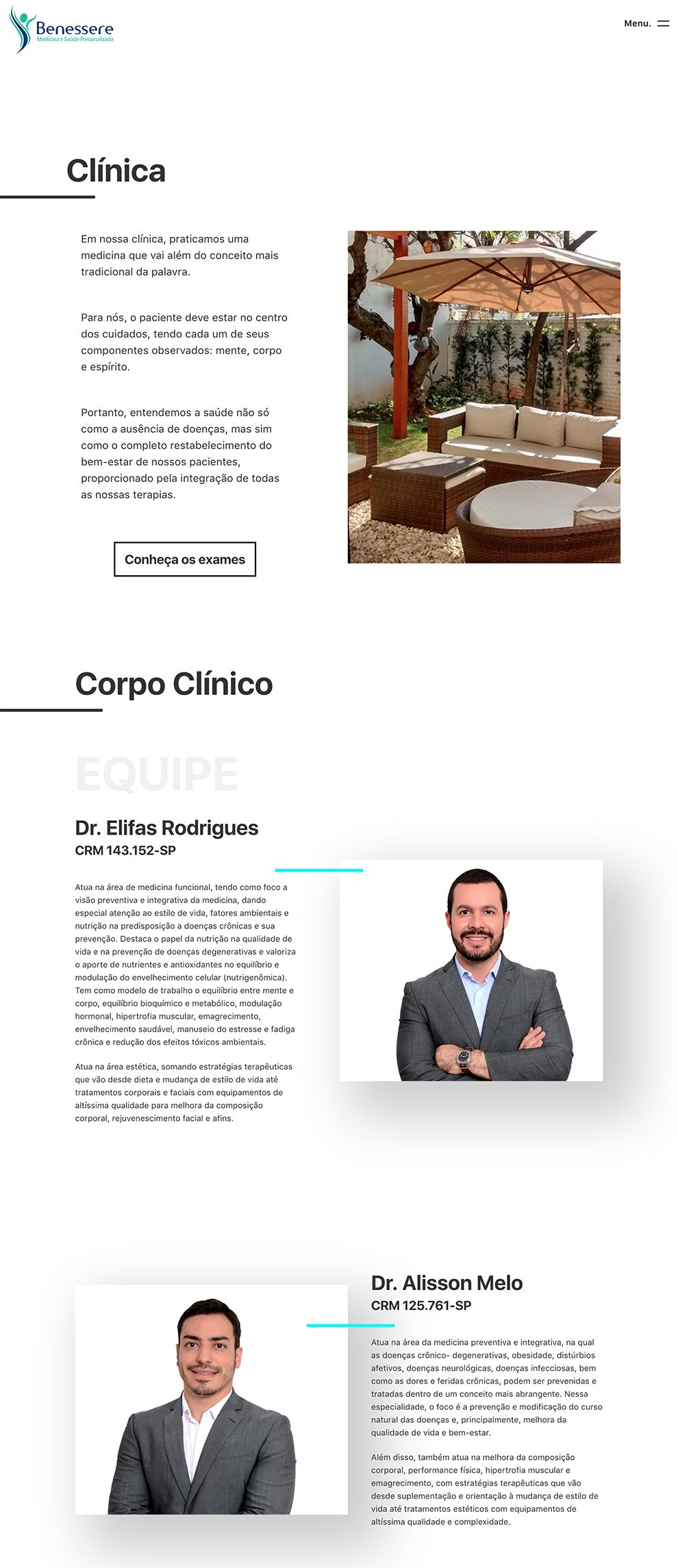 Benessere Clinic Clean About Page