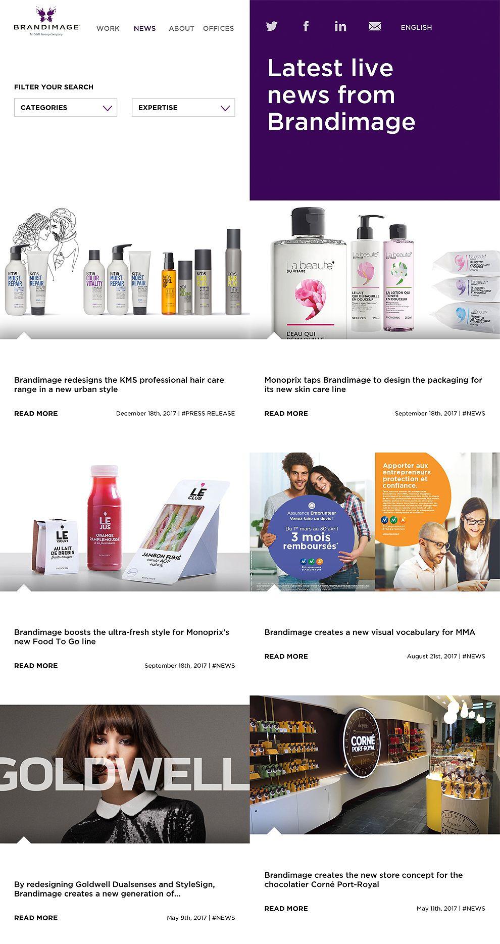 Brand Image Organized Website News