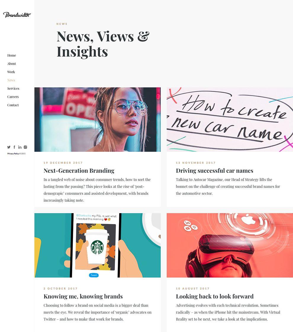 Brandwidth Amazing News Page