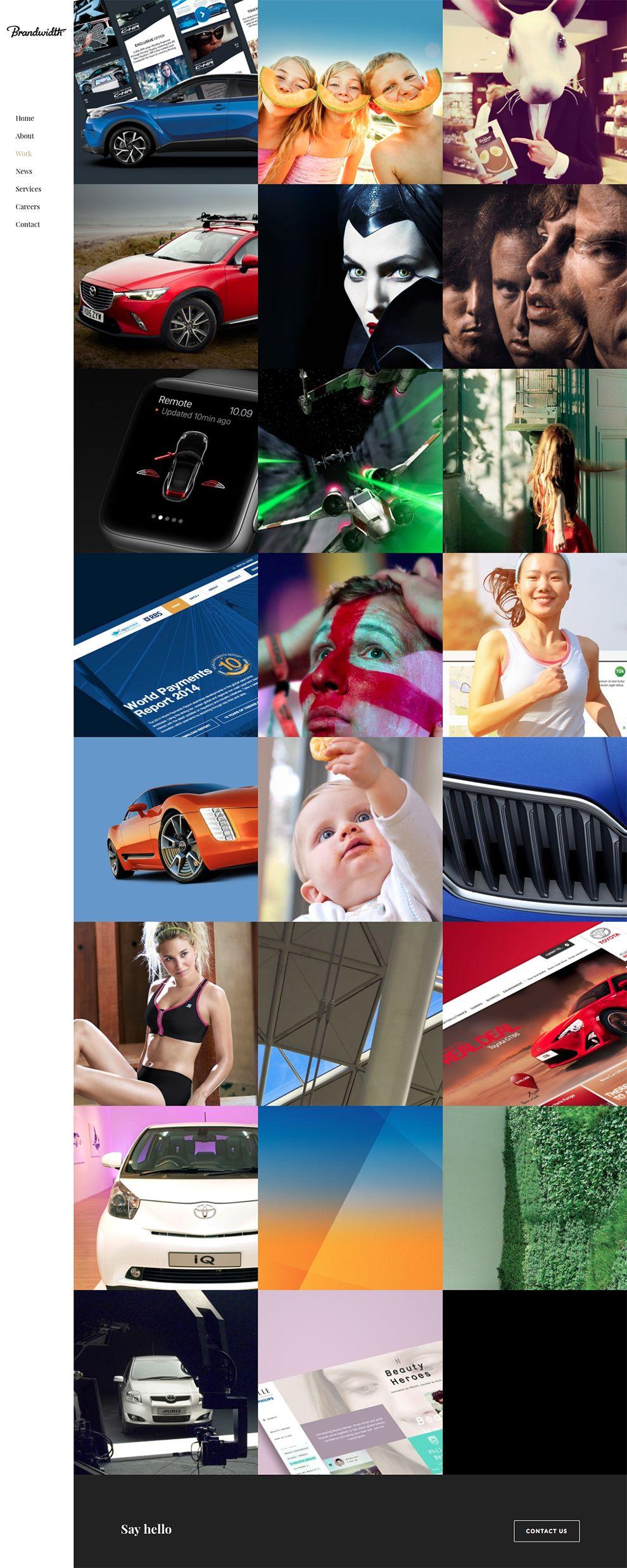 Brandwidth Amazing Portfolio Page