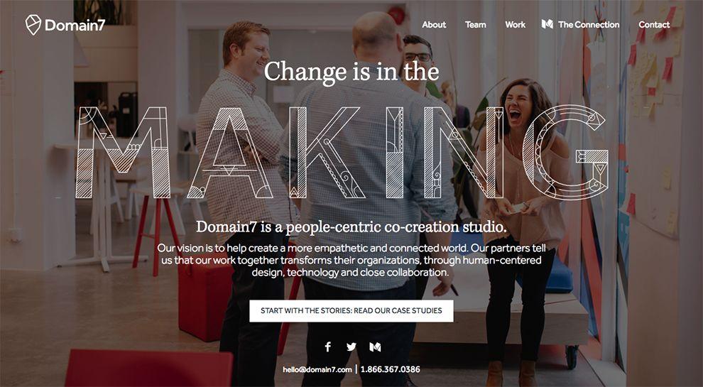 Domain7 Engaging Homepage