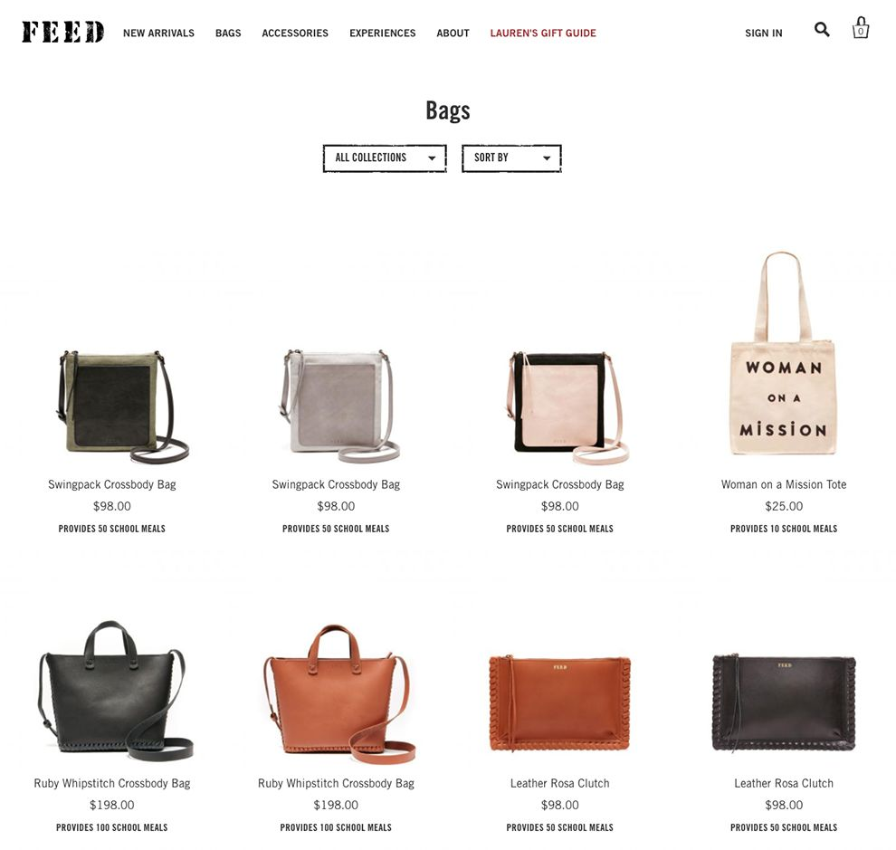 Feed Projects Elegant Product Page