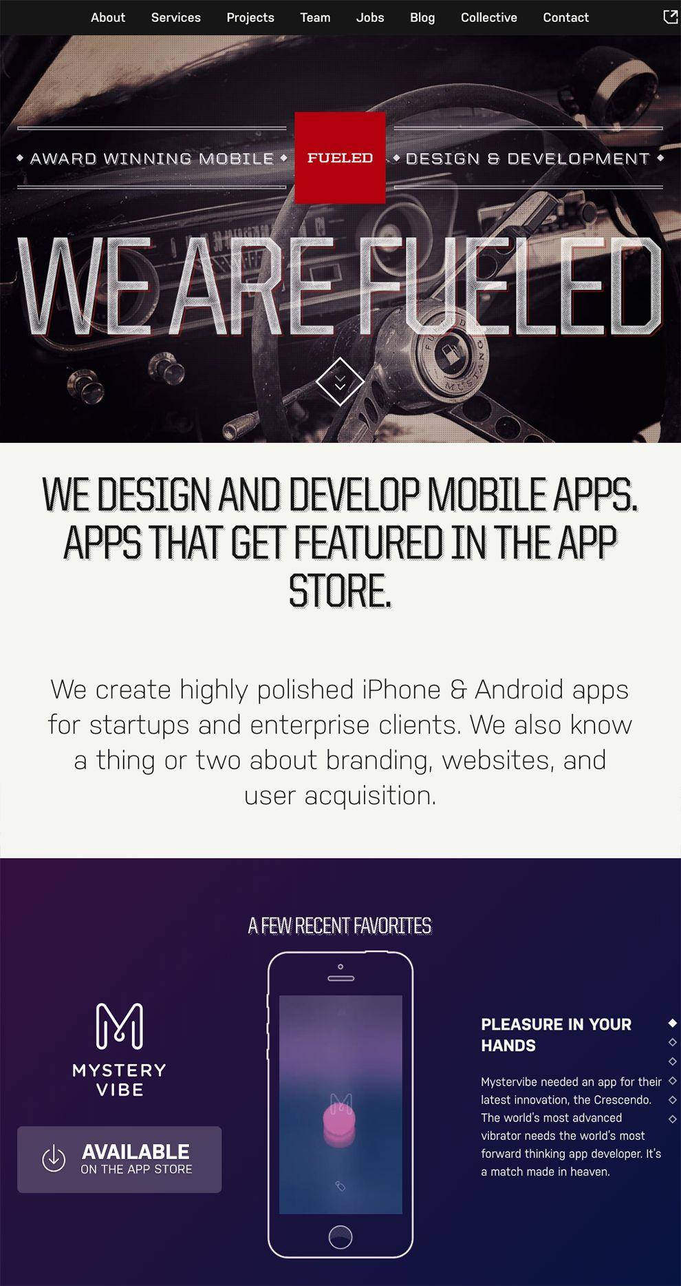 Fueled Dark Homepage Design