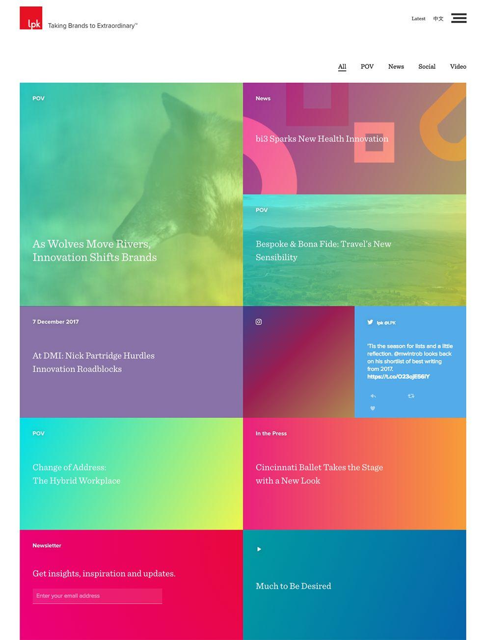 LPK Colorful News Page
