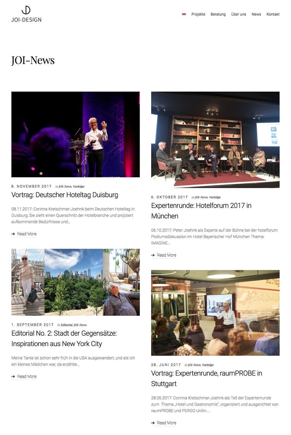 Joi Design Clean News Page