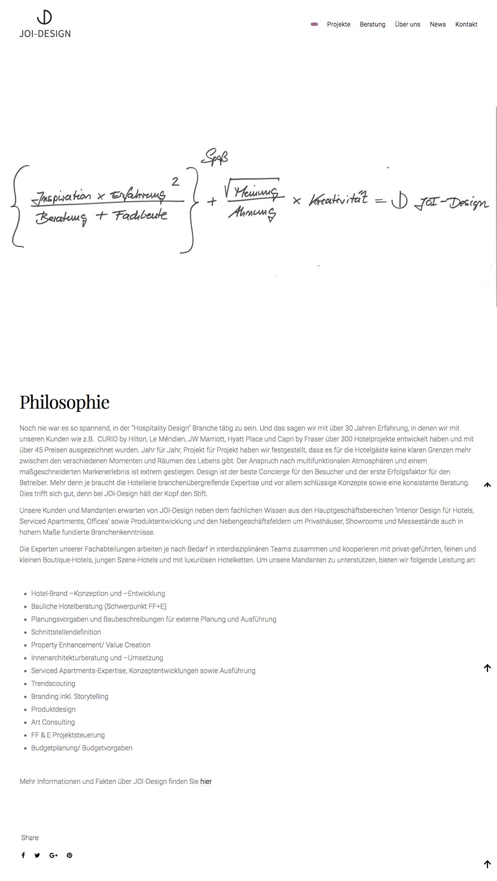 Joi Design Clean About Page
