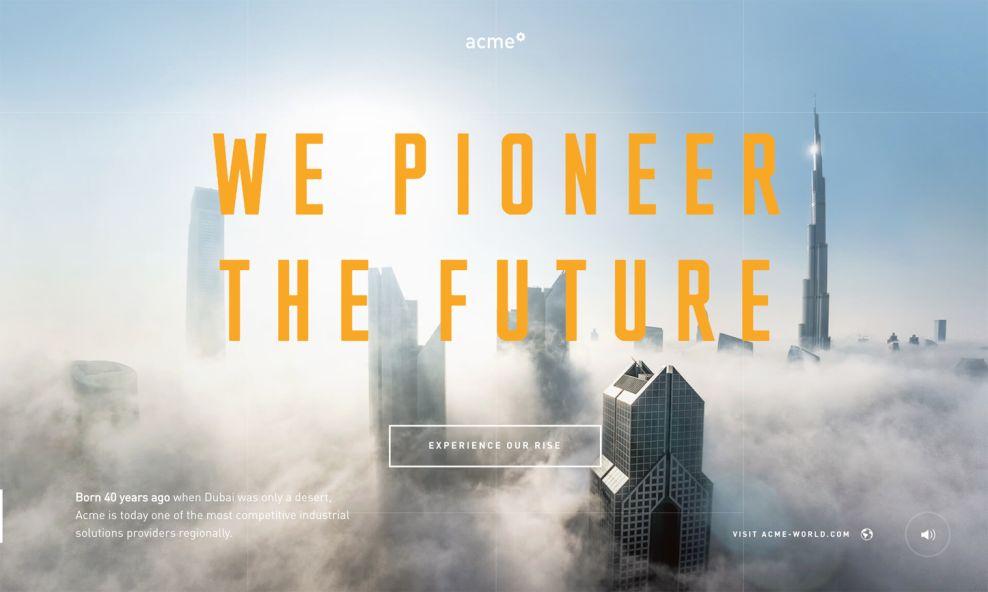 Acme Great Homepage