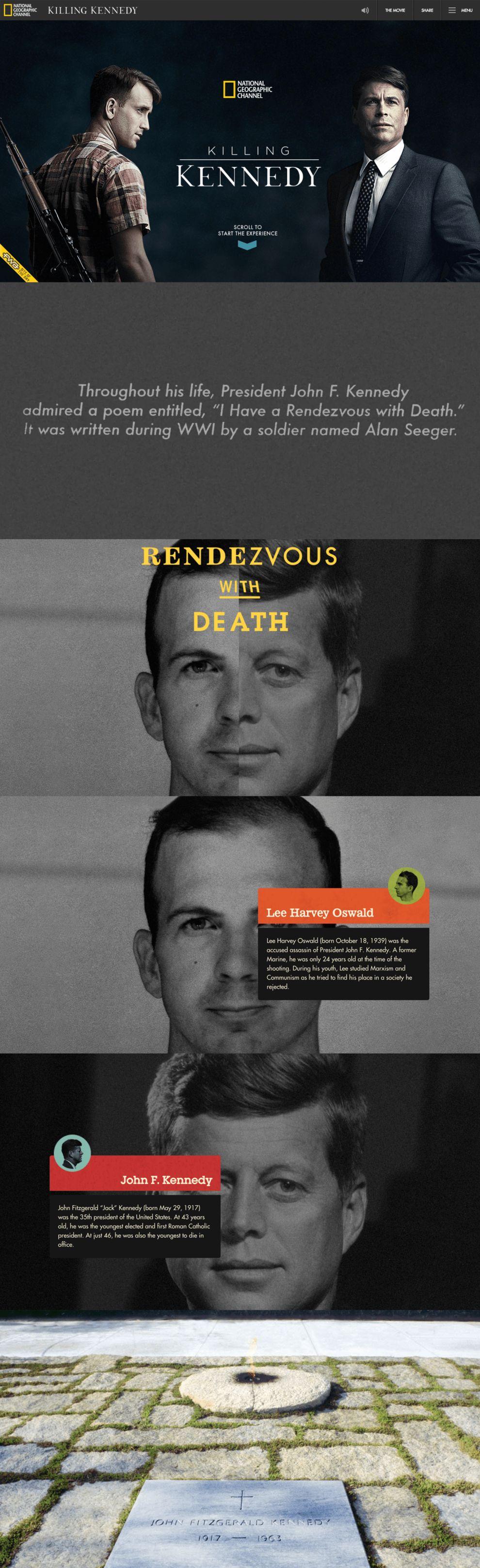 Killing Kennedy Best Website Design