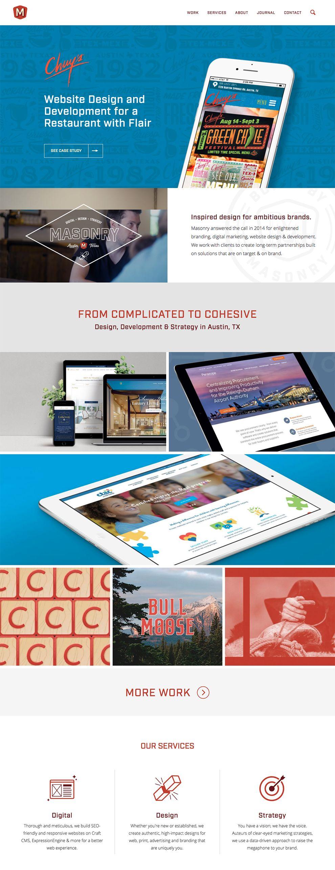Masonry Beautiful Homepage