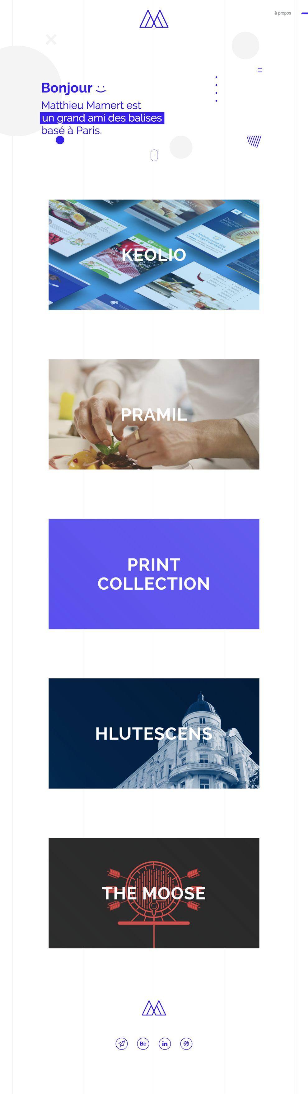 Matthieu Mamert Organized Website