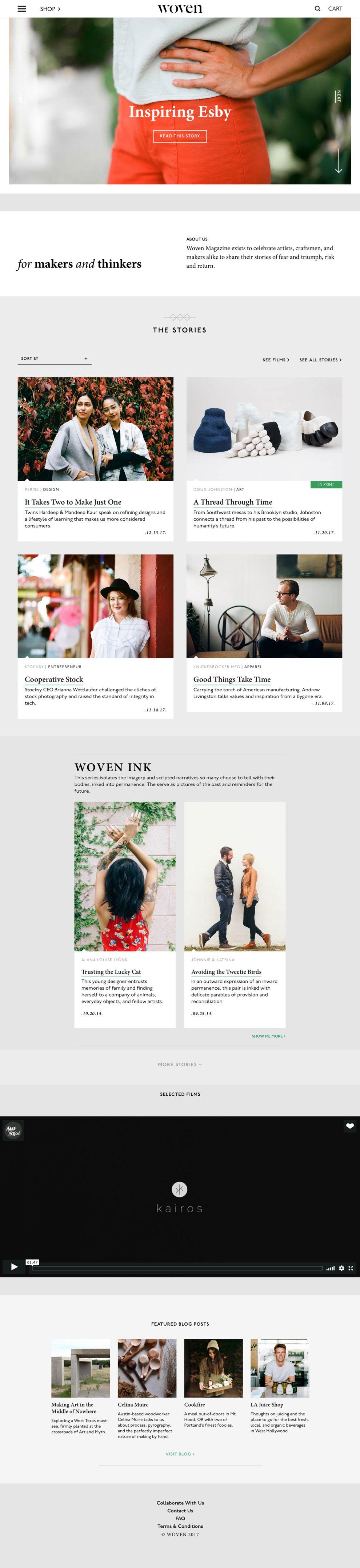 Woven Magazine Elegant Homepage