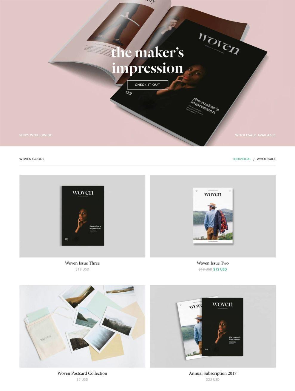 Woven Magazine Elegant Portfolio
