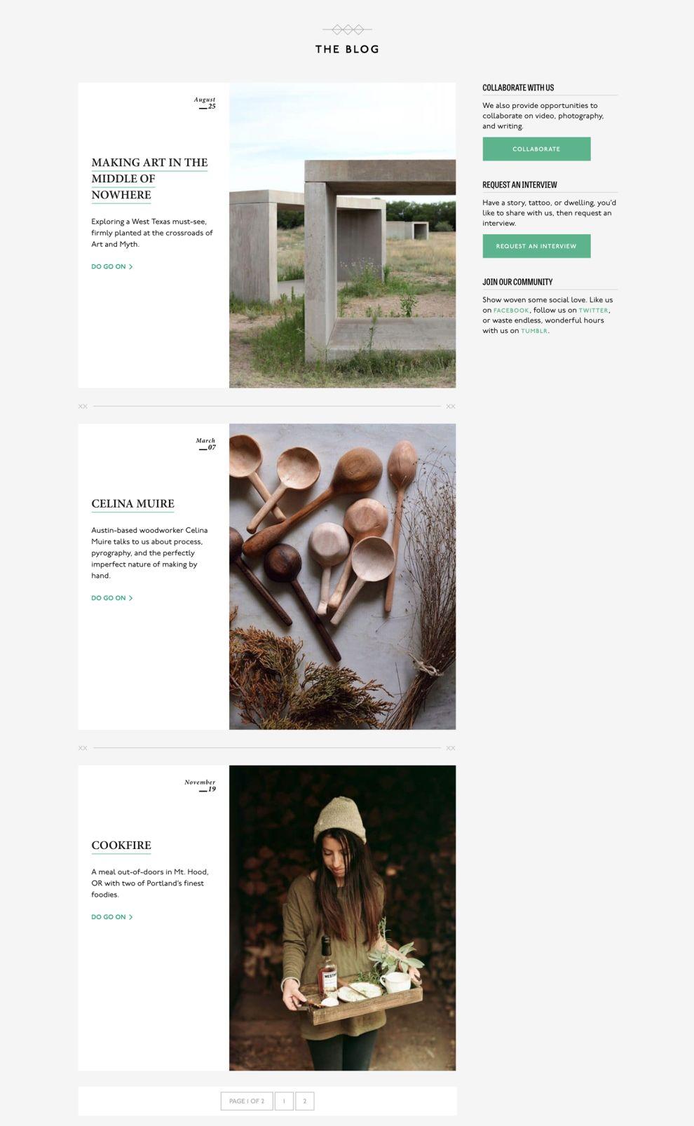 Woven Magazine Elegant Blog Page