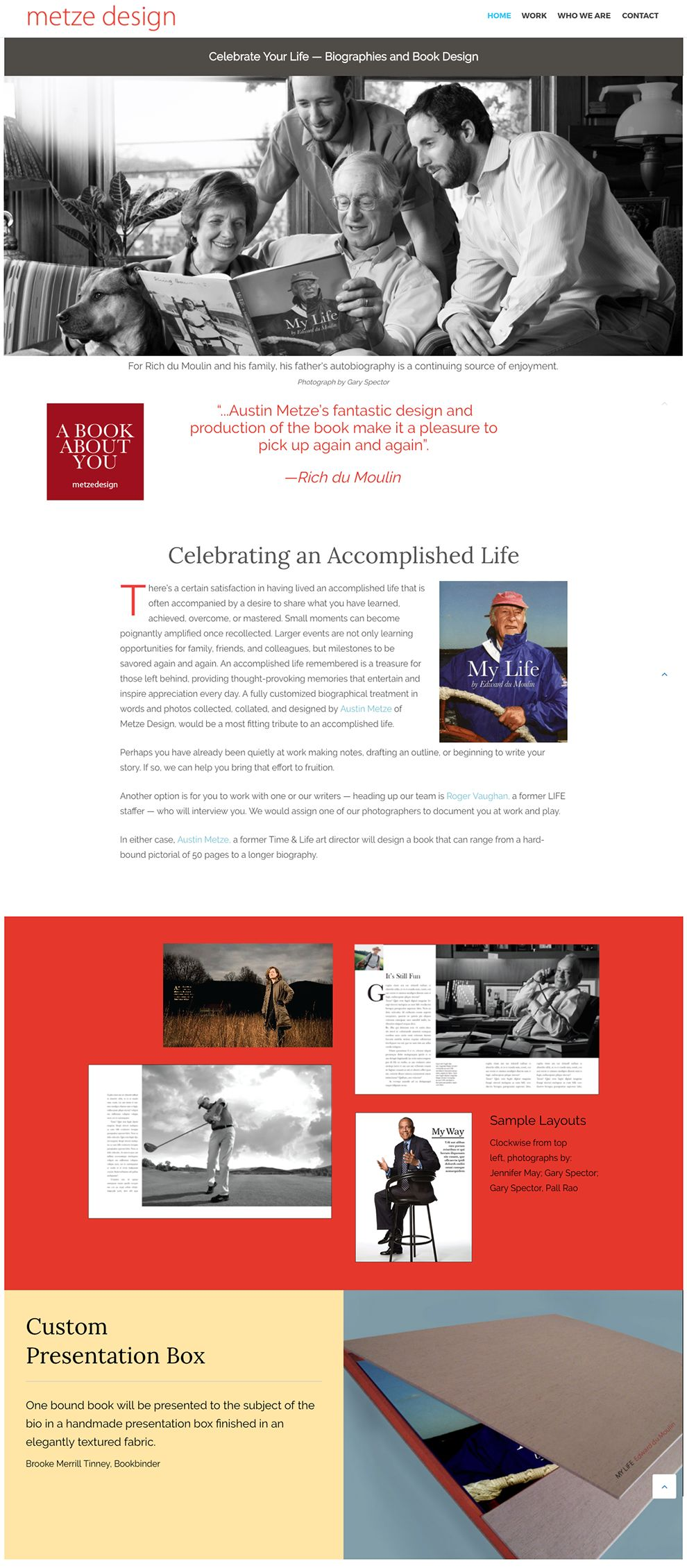Metze Design Top Homepage