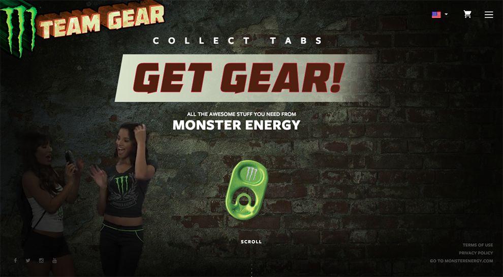 Monster Energy Gear Great Homepage