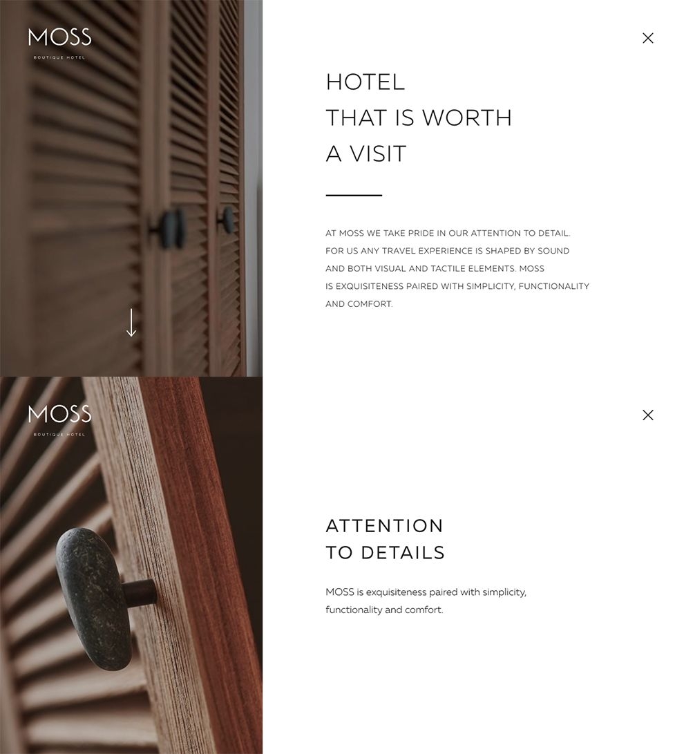 Moss Hotel Elegant Product Page