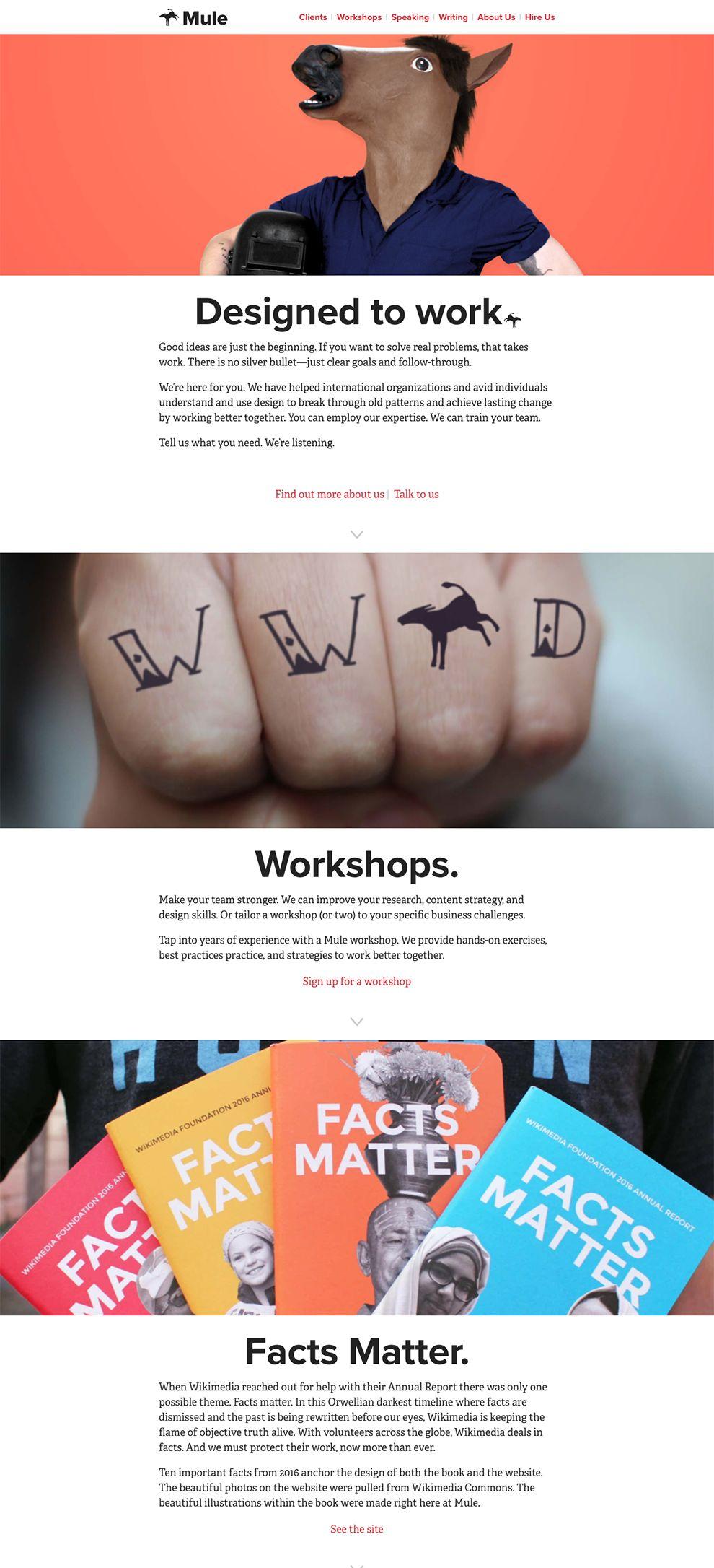 Mule Design Beautiful Homepage
