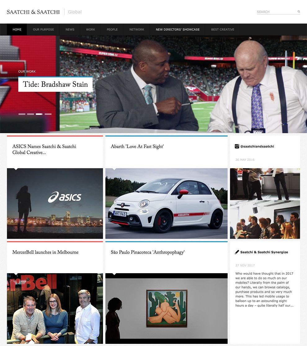 Saatchi & Saatchi Top Homepage Design