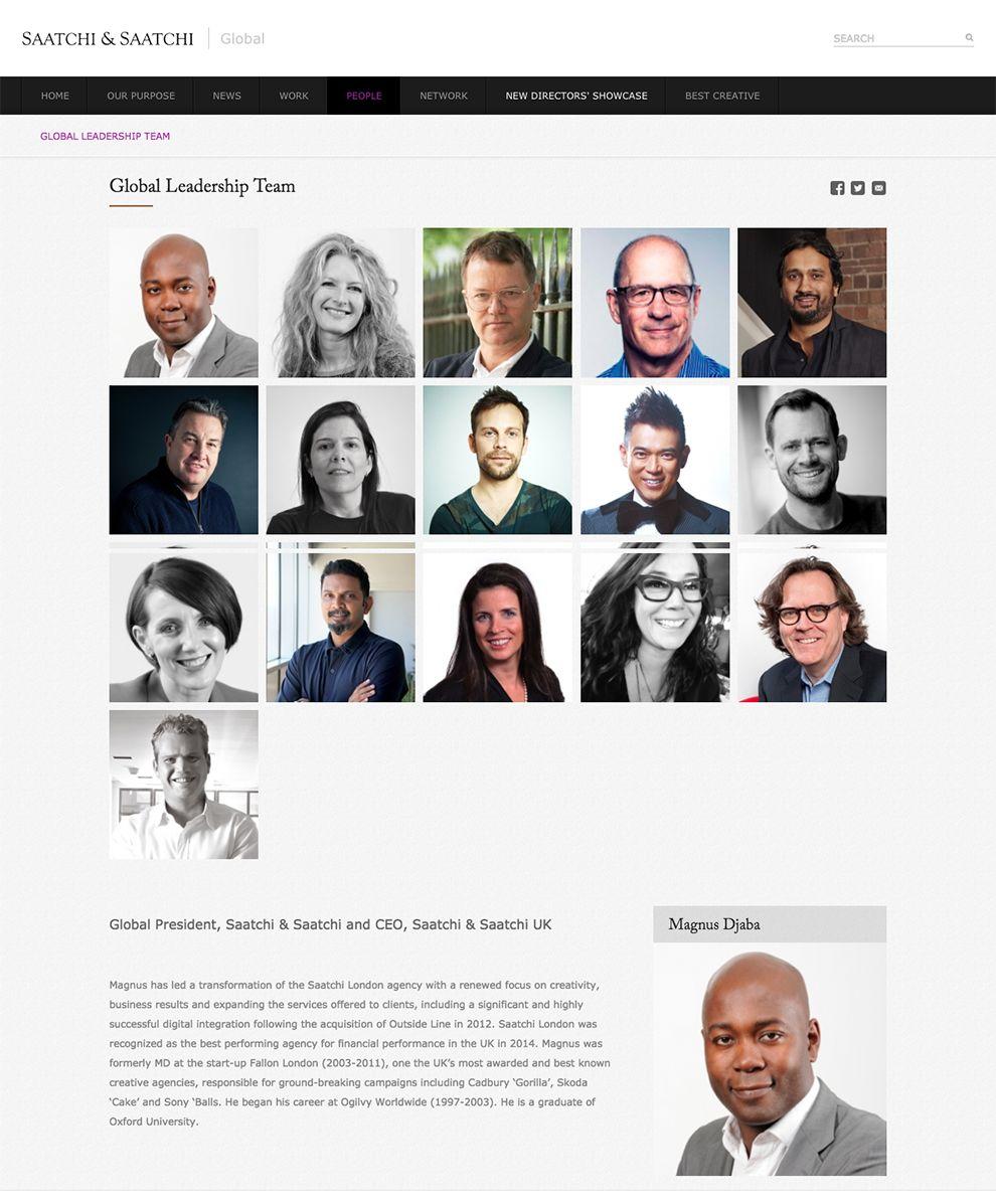 Saatchi & Saatchi Top Members Page