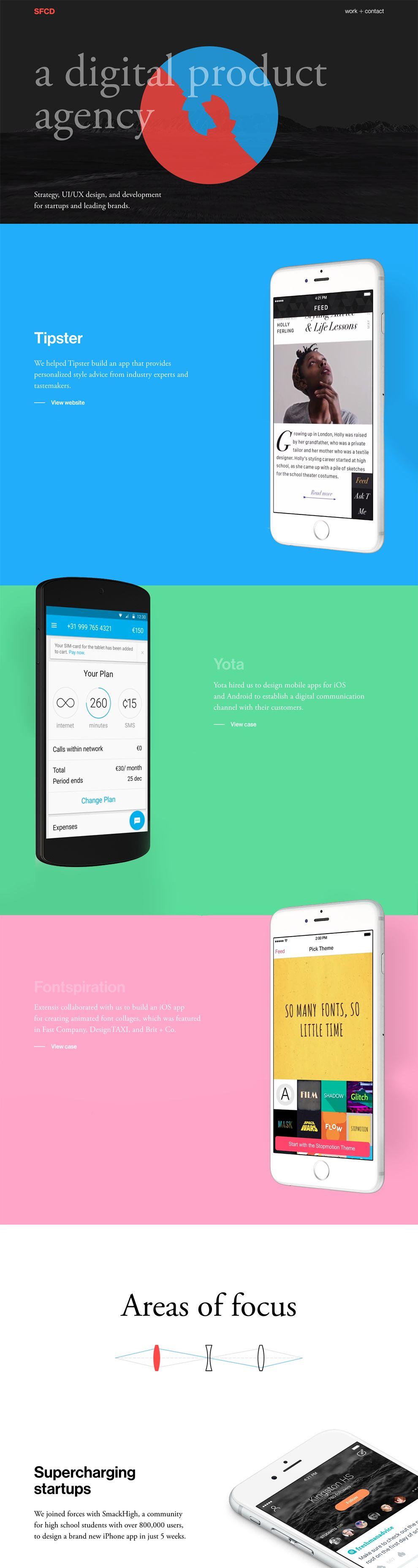 SFCD Colorful Website Design