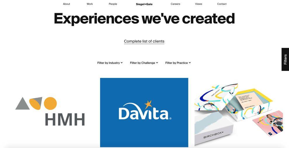Siegal + Gale Work Website Design