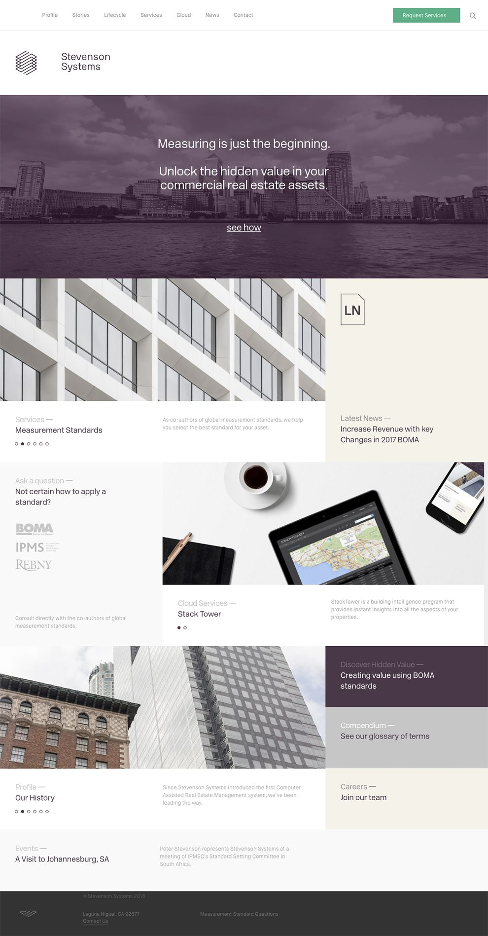 Stevenson Systems Elegant Homepage