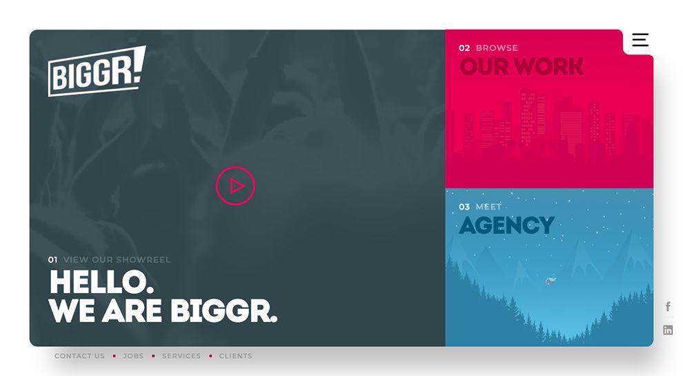 BIGGR Colorful Homepage