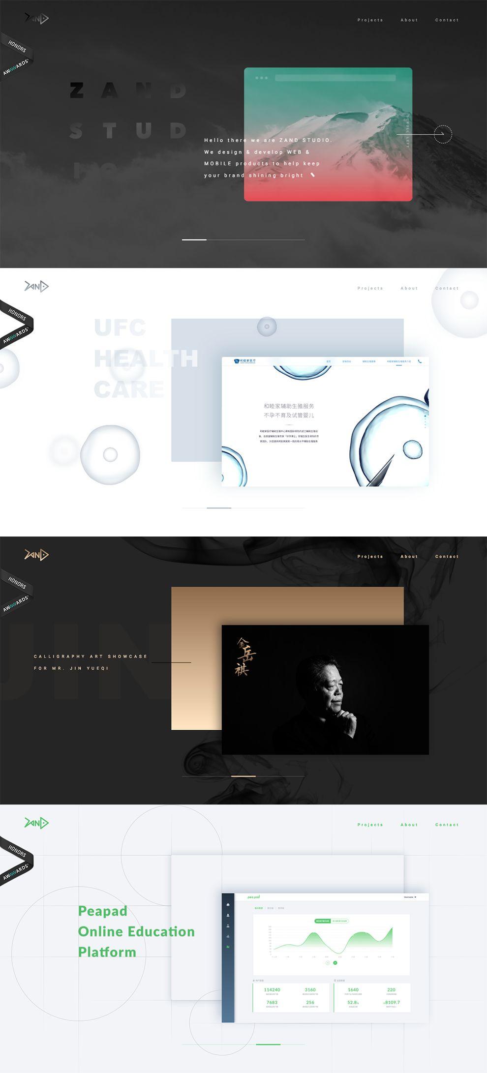 Zand Studio Great Homepage Design