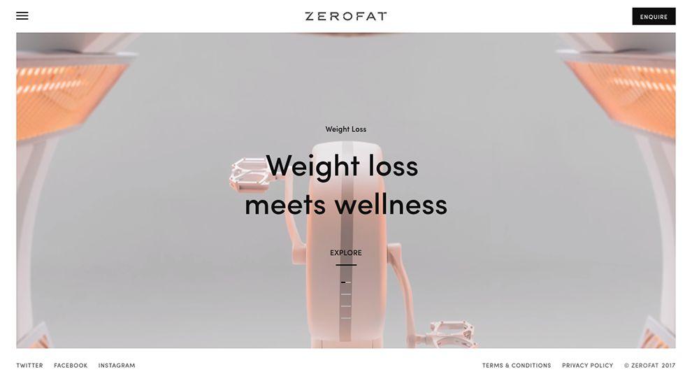 Zero Fat Clean Homepage