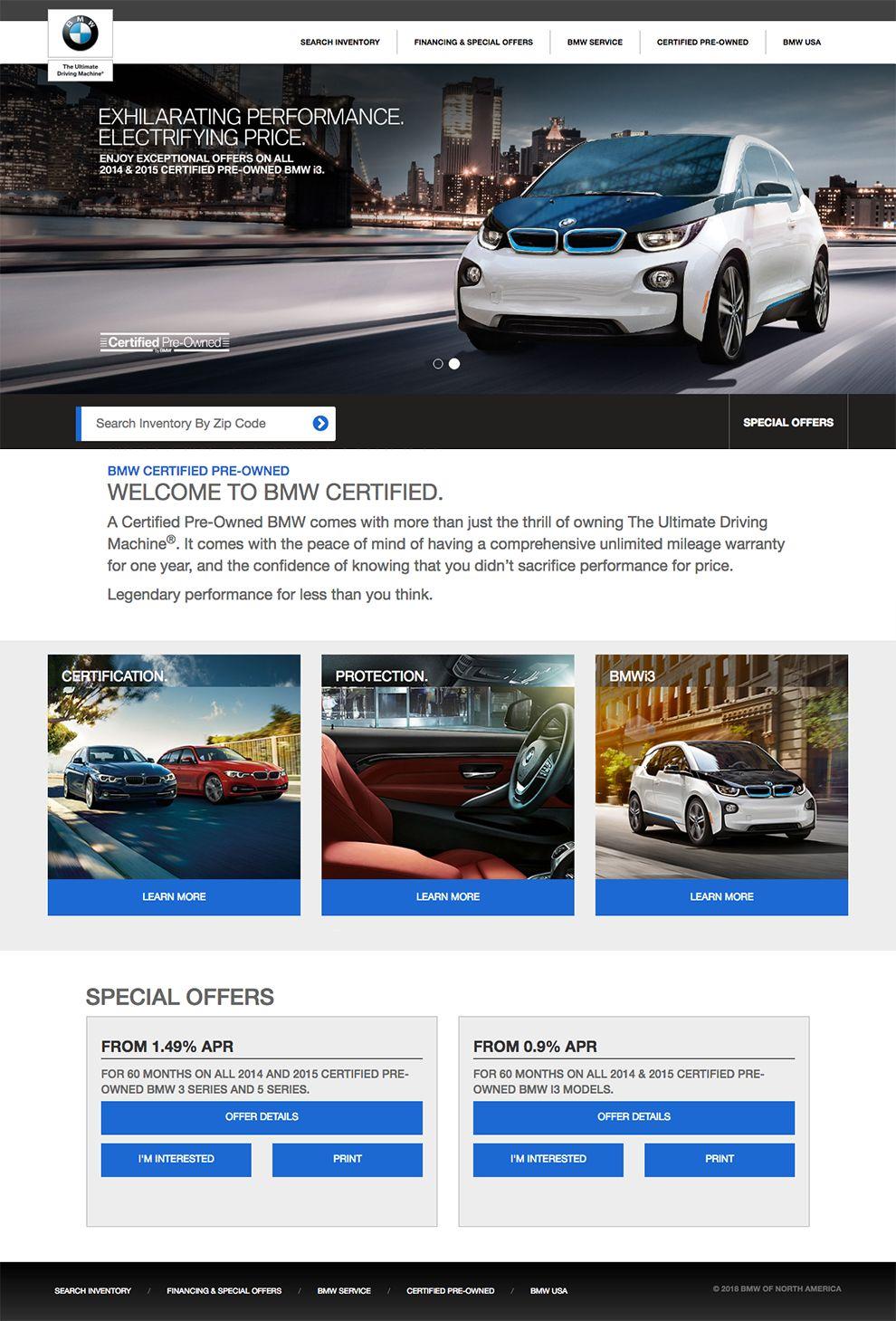 BMW USA Sleek Product Page Design