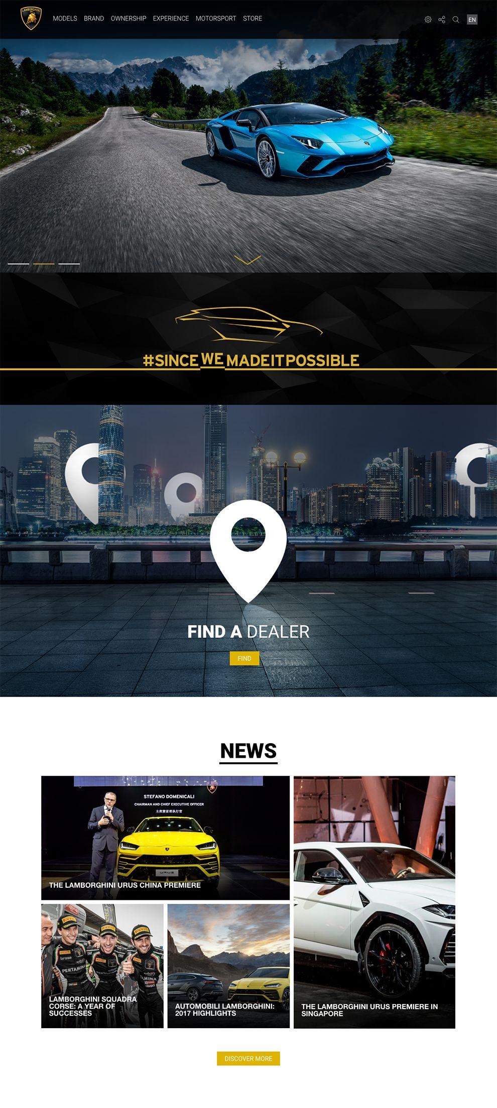 Automobili Lamborghini Elegant Homepage