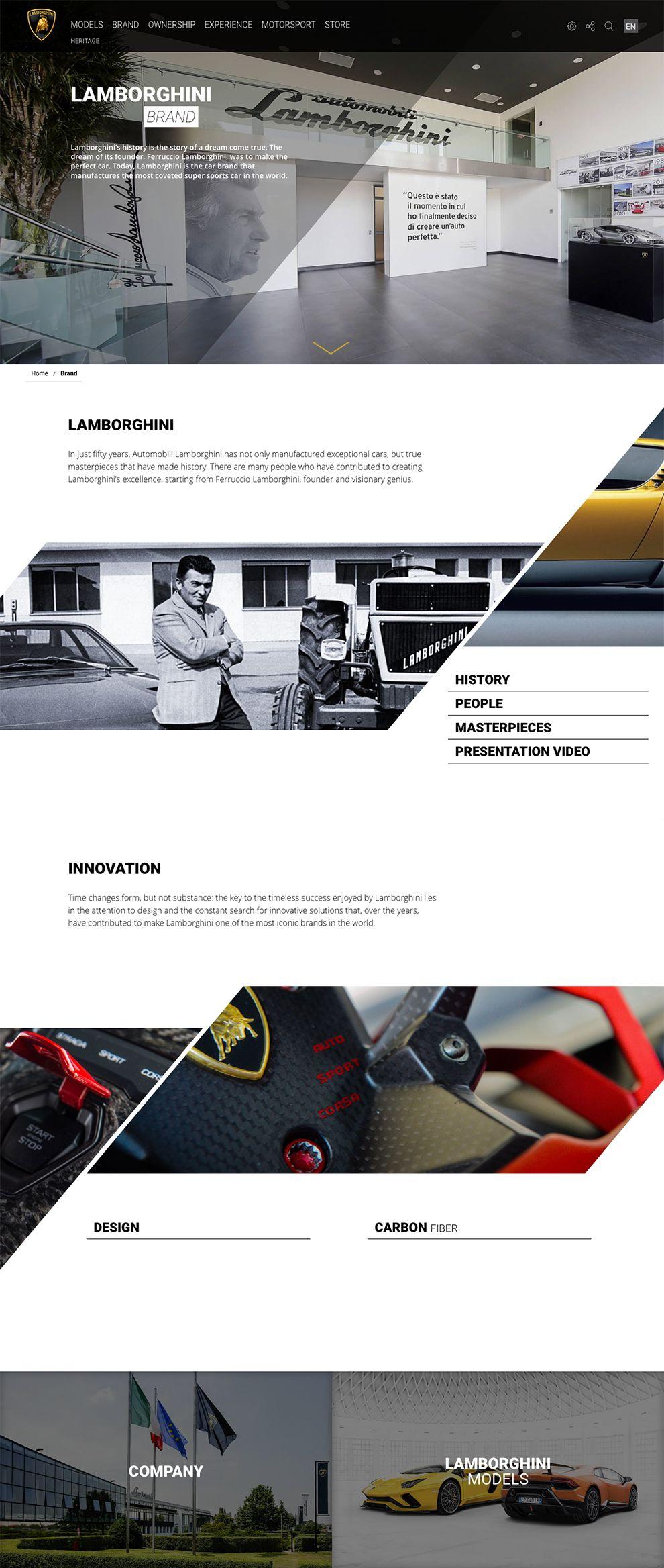 Automobili Lamborghini Elegant About Page