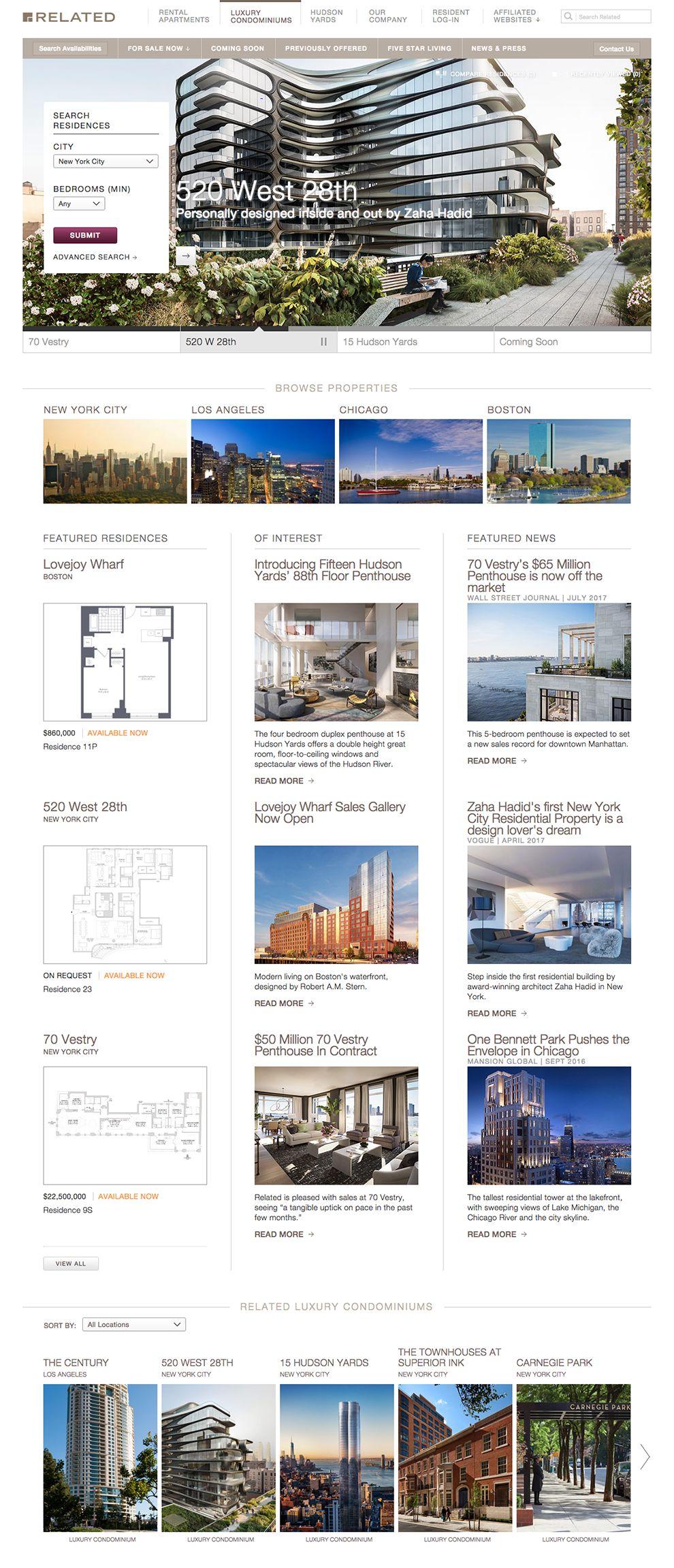 Related Sales Great Website Design Homepage