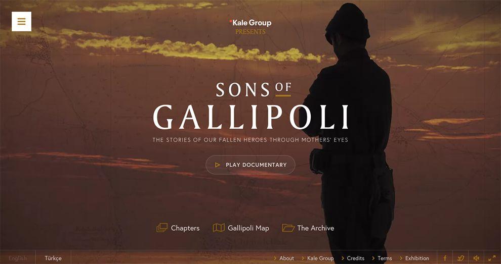 Sons of Gallipoli Documentary Website