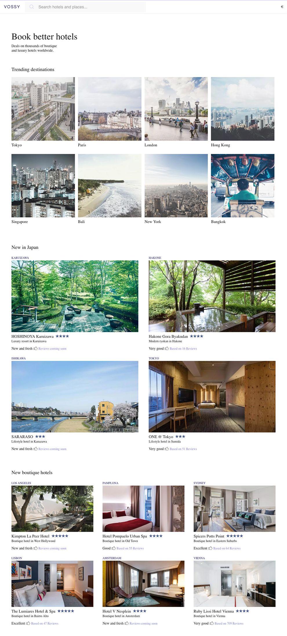 Vossy Minimal Homepage
