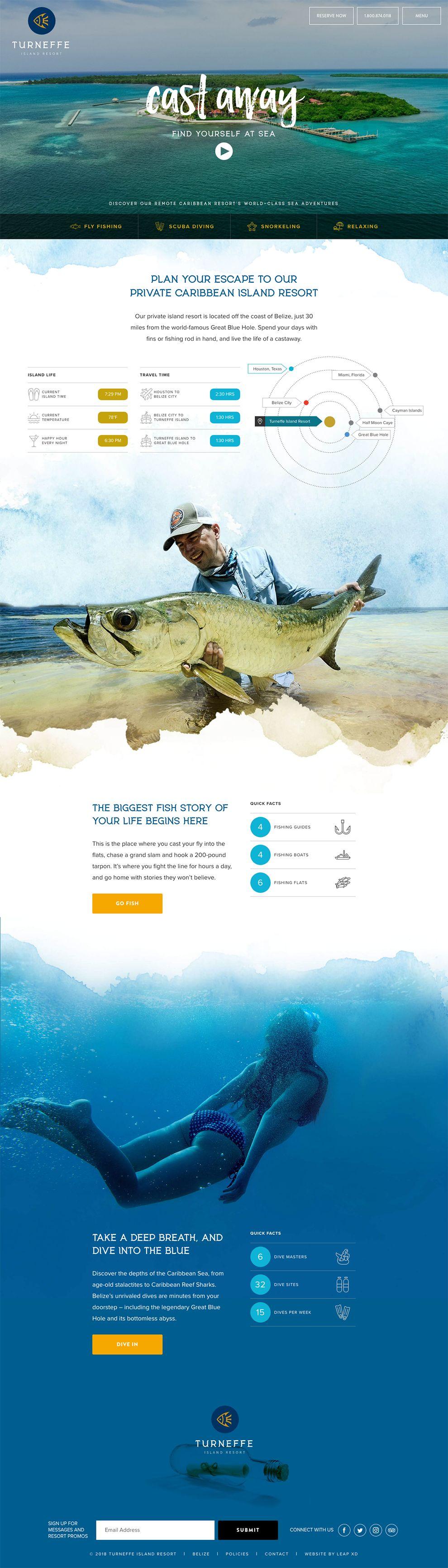 Turneffe Island Resort Beautiful Homepage