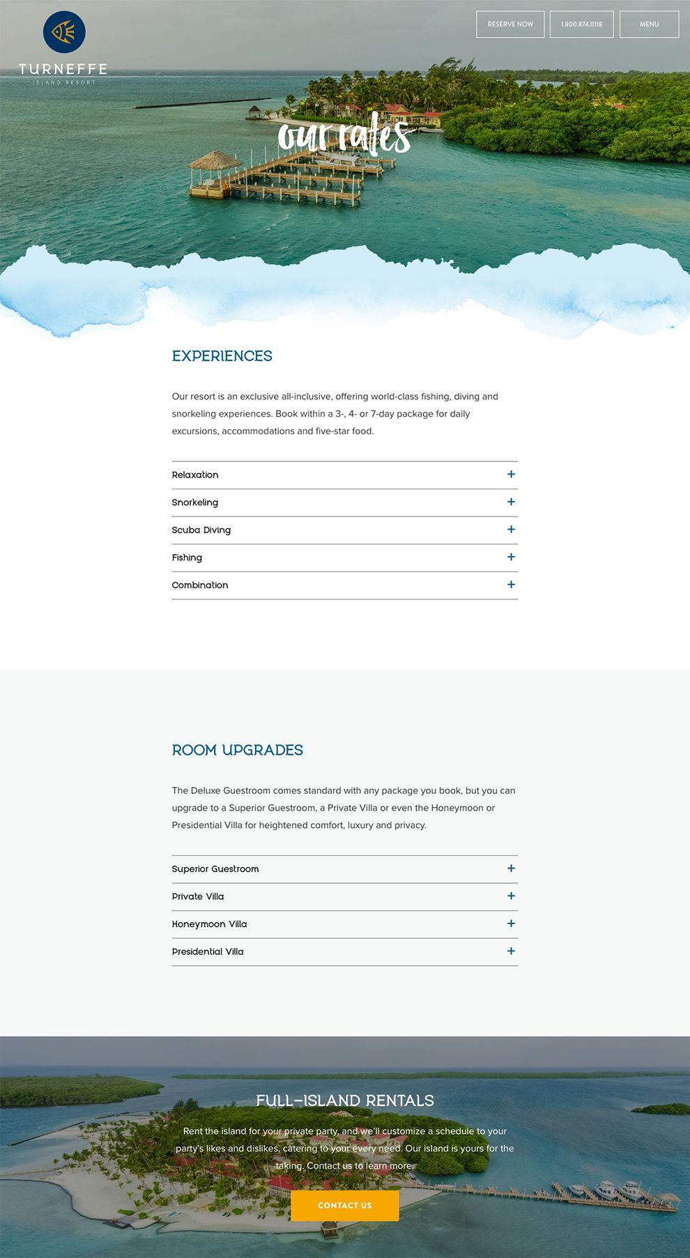 Turneffe Island Resort Beautiful Product Page