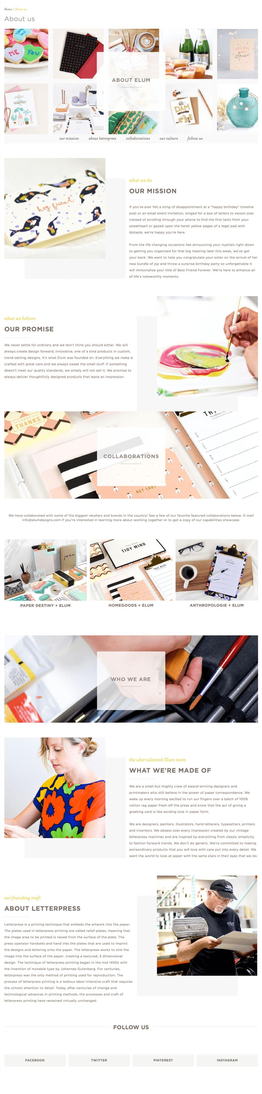 Elum Designs About Page