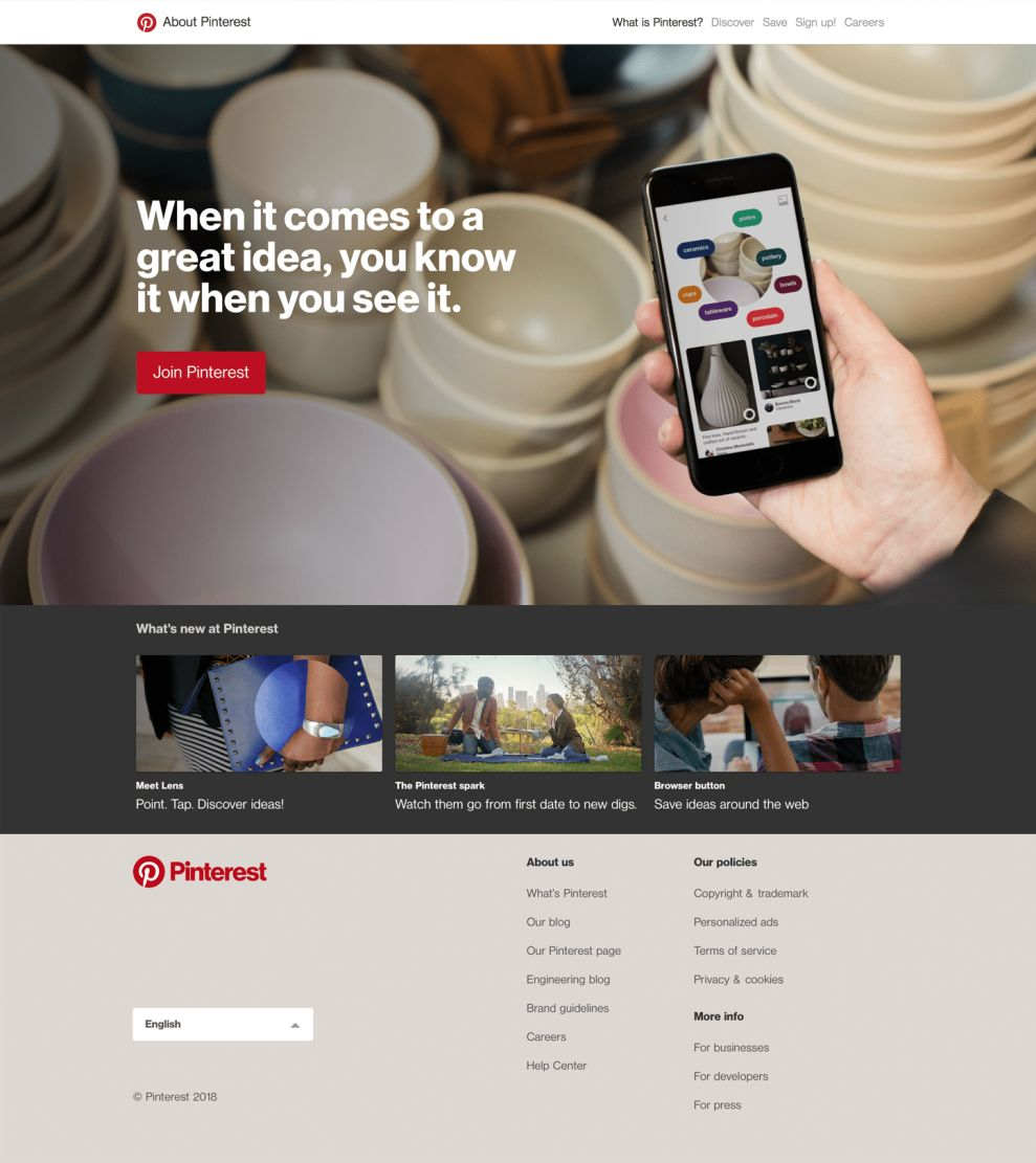 Pinterest Great About Page