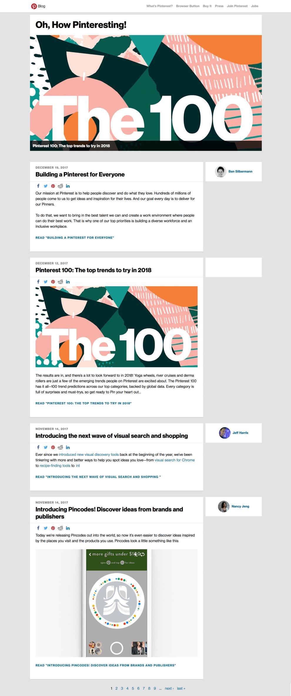 Pinterest Clean Blog Page