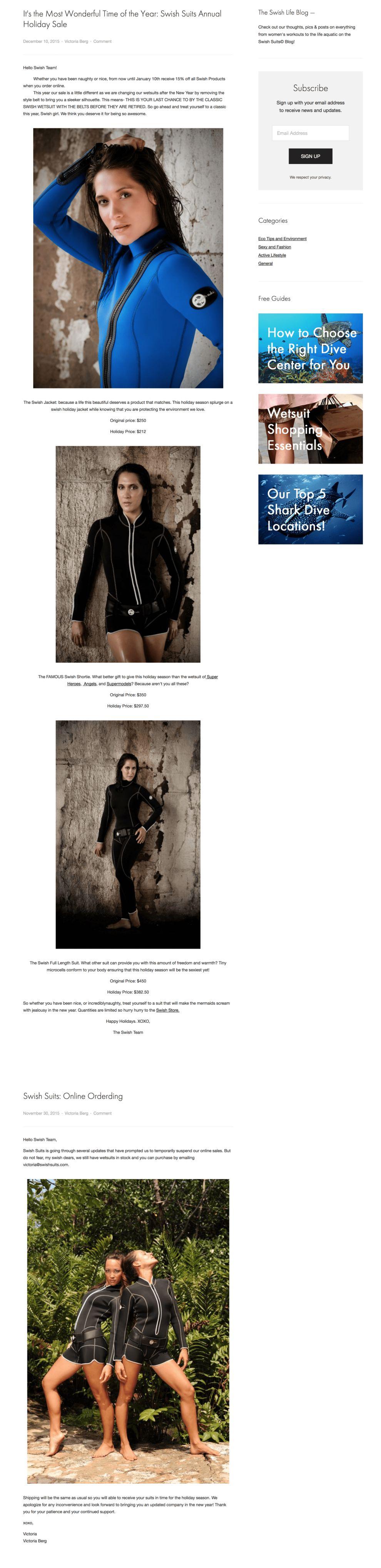 Swish Suits Top Blog Design