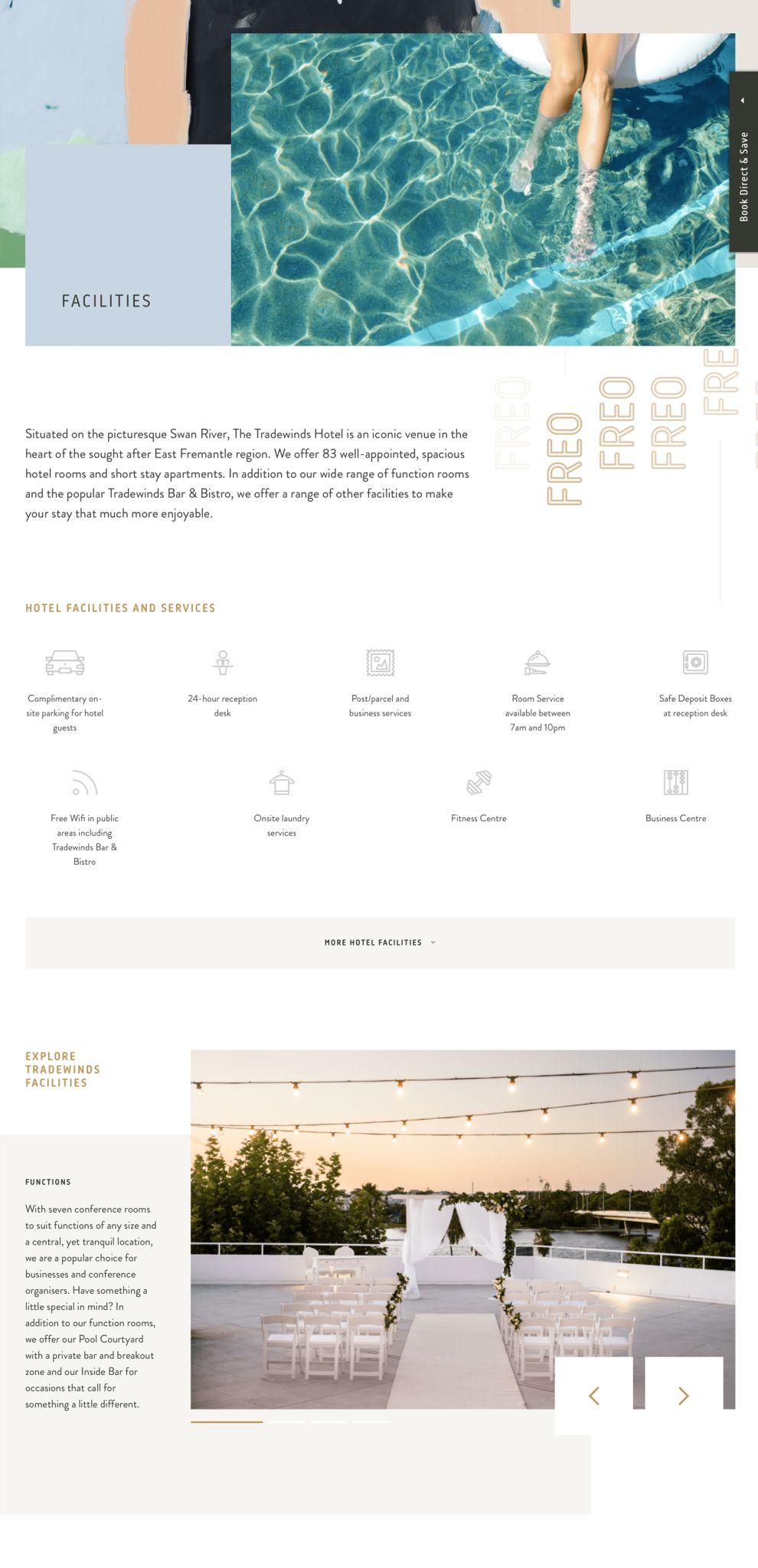 Tradewinds Hotel Beautiful Product Page
