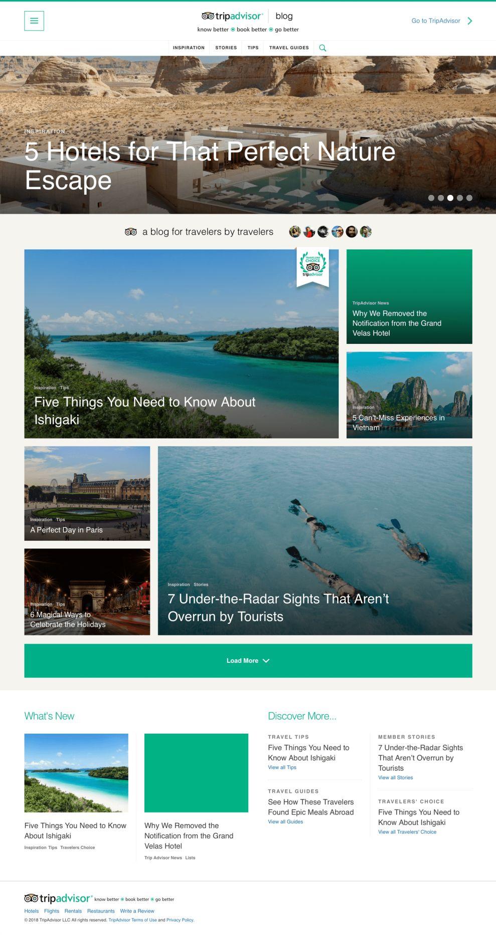 TripAdvisor Clean Website Design Blog
