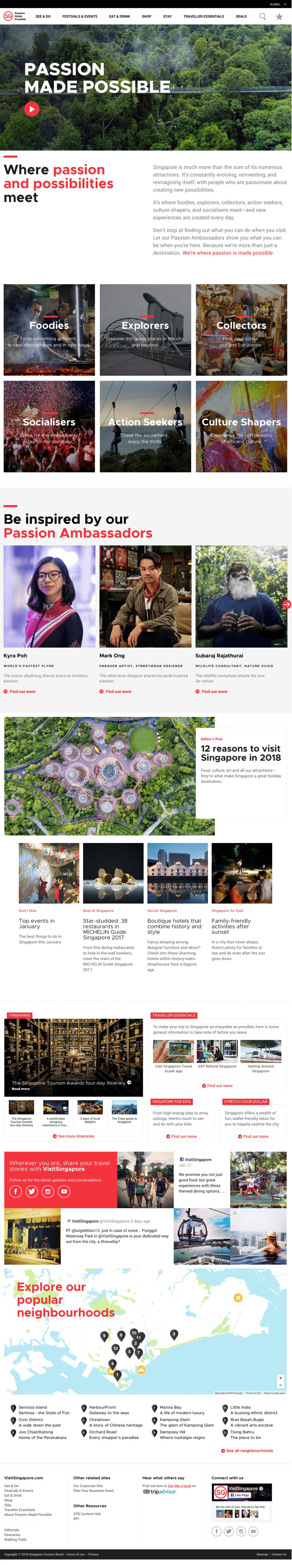 Visit Singapore Elegant Homepage