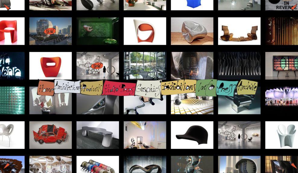 Ron Arad Top Web Design Homepage