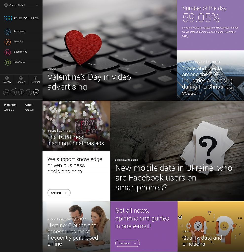 Gemius Top Website Design Homepage