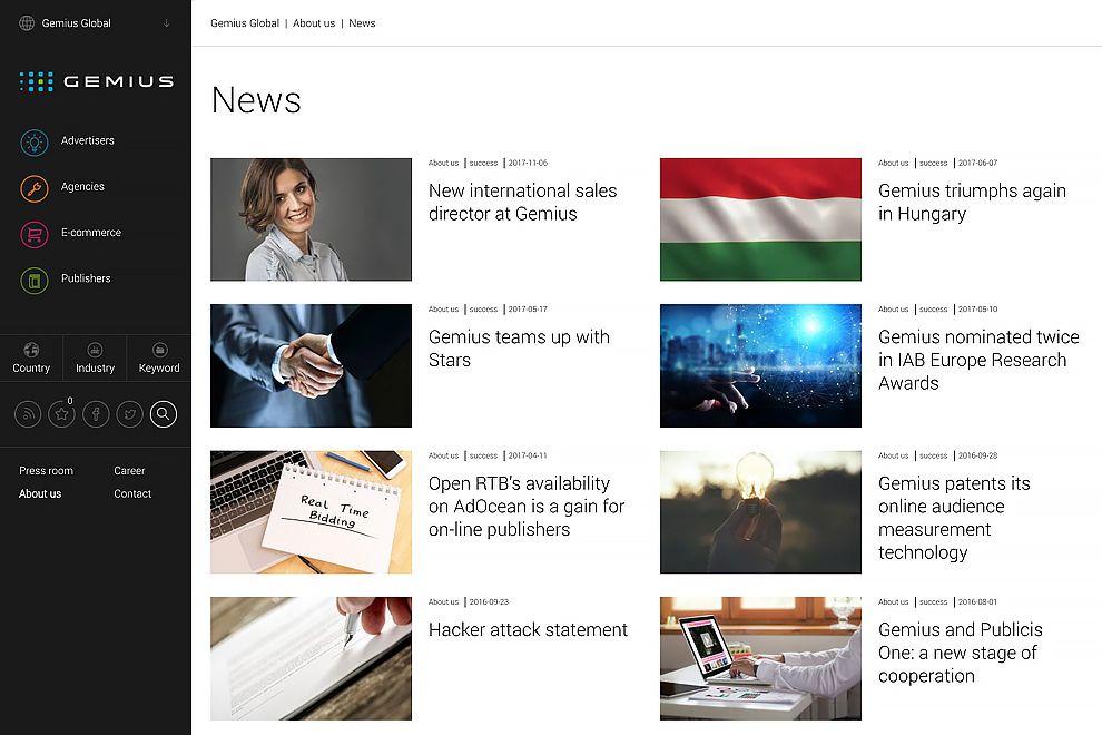 Gemius Top Website Design News Page