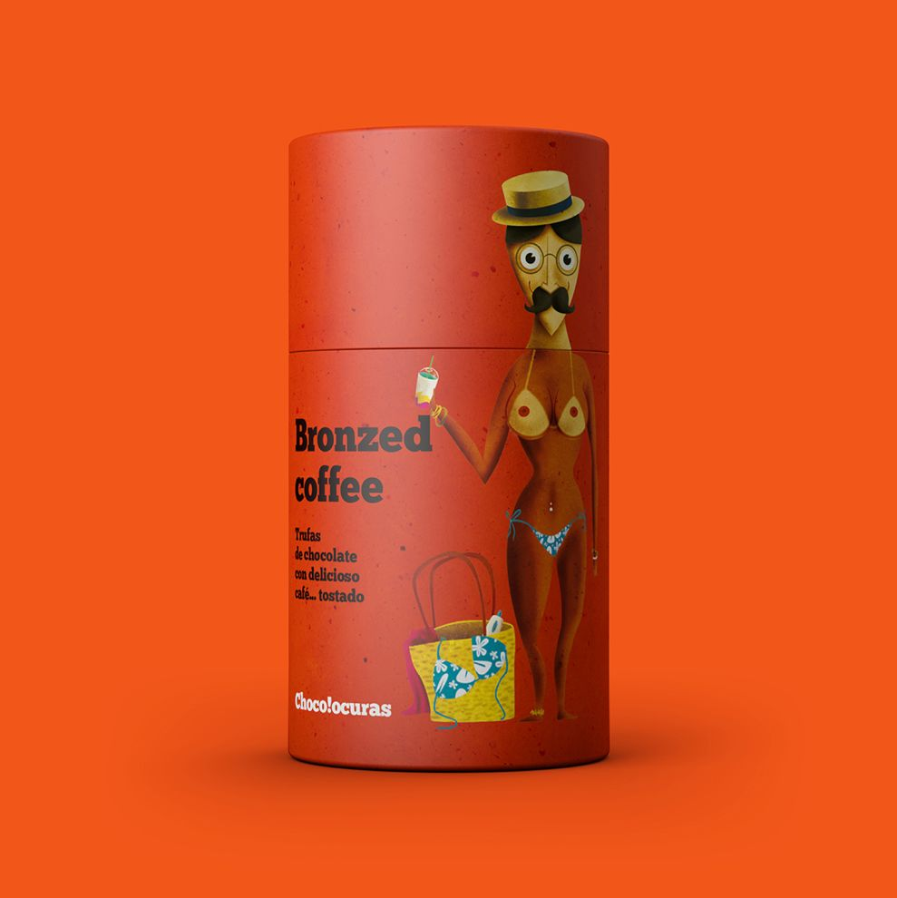 Bronzed Coffee by Chocolocuras Cool Package Design