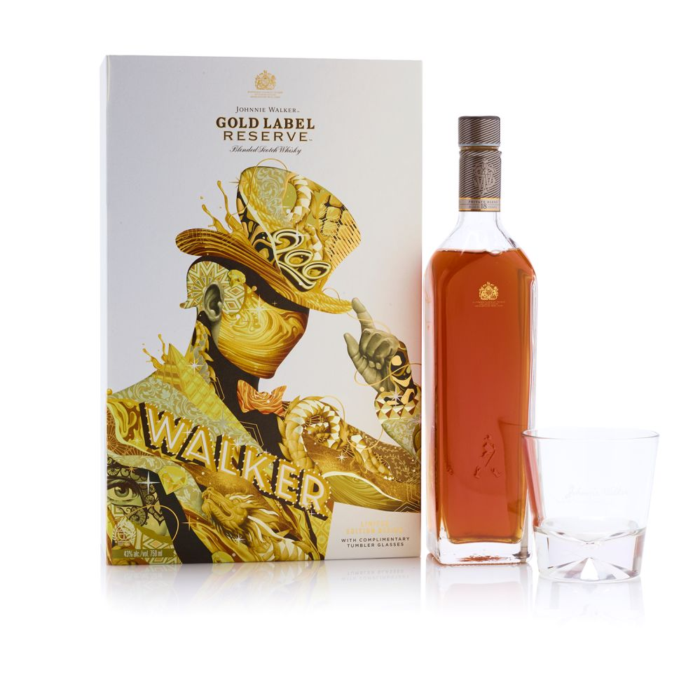 Johnnie Walker Limited Edition Whiskey Clean Package Design